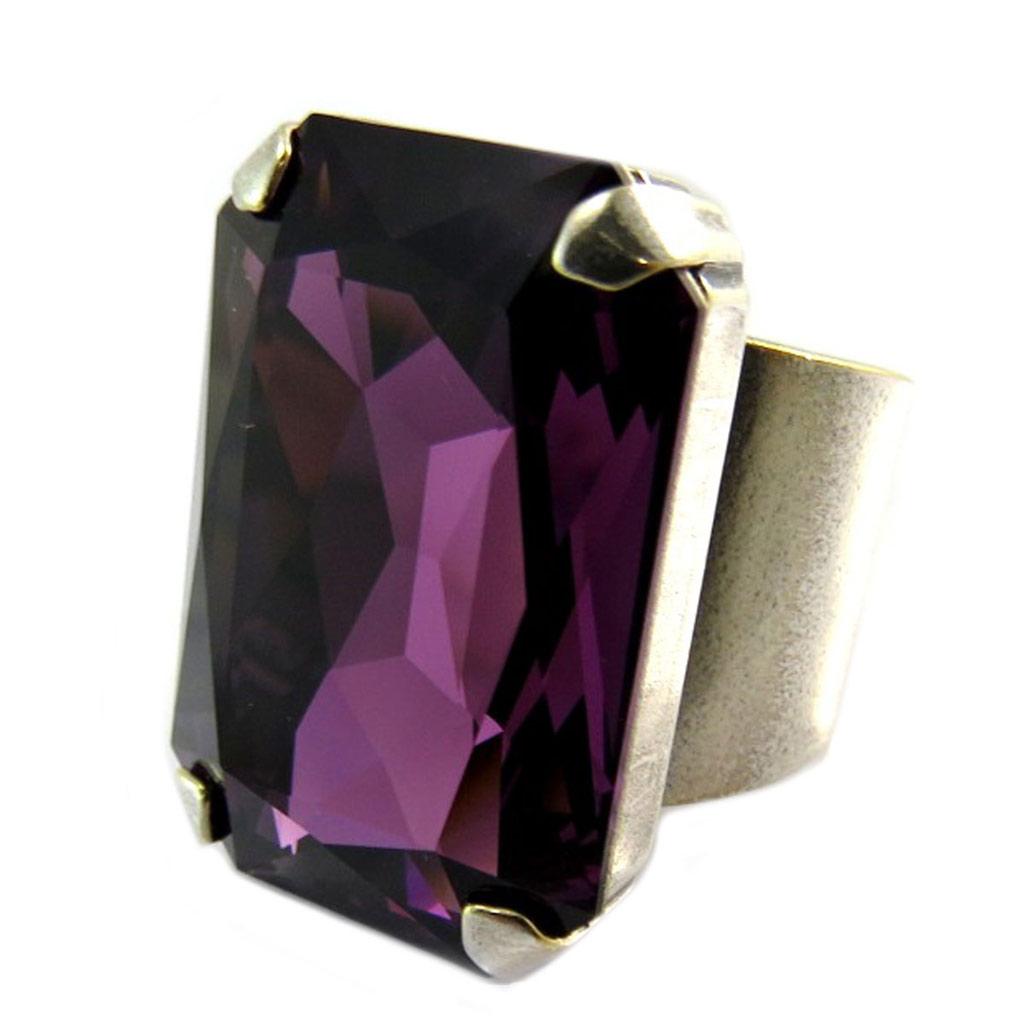 【送料無料】ブレスレット バイオレットpromo 24, lilycrystal [p5191] bague artisanale tsarine violet amthyst