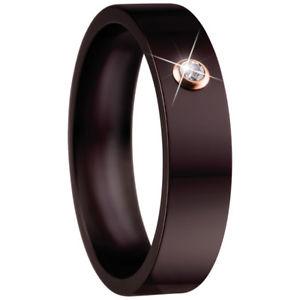 【送料無料】ブレスレット ベーリングブラウンセラミッククリスタルリングbering anello tg 59,5 marrone in ceramica con cristallo