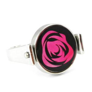 【送料無料】ブレスレット bague acier flora rose noir argent