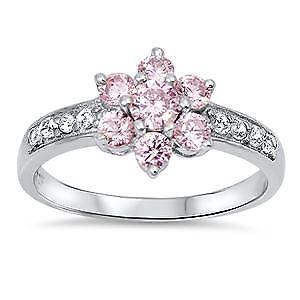 【送料無料】ブレスレット スターリングシルバーピンククリアリングargento sterling rosa e chiaro cz anello