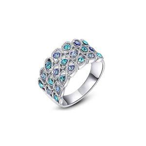 【送料無料】ブレスレット スワロフスキークリスタルリングanello in cristallo di swarovski blu