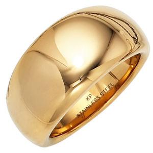 【送料無料】ブレスレット ステンレススチールカラーゴールドコーティングリングanello da donna larga in acciaio inox colori oro rivestito nuovo