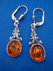 【送料無料】ブレスレット オレンジオレンジシルバーイヤリングsenza tempo orecchini con amber ambra argento 925