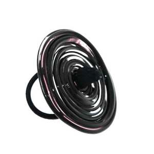 【送料無料】ブレスレット リングムラノガラスクリスタルブラックanello artigianale vetro di murano donna vortice xl misura unica nero cristallo