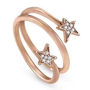 【送料無料】ブレスレット リングシルバースターローズanello donna argento stella rose con zirconi misura 14 nomination 146701011023