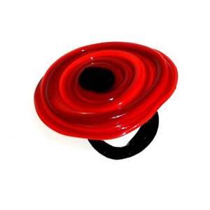 【送料無料】ブレスレット ムラノガラスチャクラリングデザインanello artigianale design in vetro di murano donna vortice xl 1 chakra rosso
