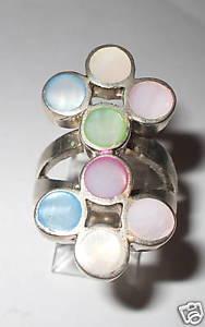 【送料無料】ブレスレット シルバーリングパールanello in argento 925 con madreperla coloratanuovo