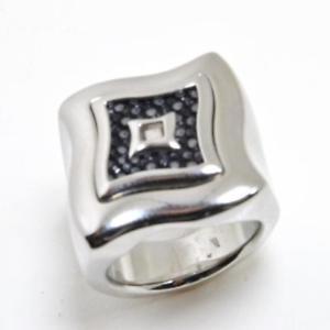 【送料無料】ブレスレット リングスチールブラックレザーanello donna in acciaio con inserto pelle nera jf80807