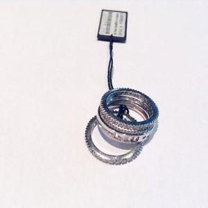 【送料無料】ブレスレット リングジョシルバーリングサイズanello donna liujo argento 925 cristalli composto 3 anelli separati misura 16