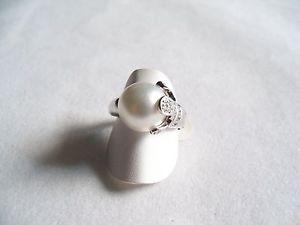 【送料無料】ブレスレット リングスターリングシルバーパールホワイトサンバレンティーノリングシルバーanello donna argento 925, perla bianca, zirconi 18 san valentino ring silver