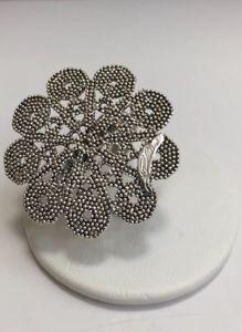 【送料無料】ブレスレット サルデーニャファンタジーシルバーリングanello in argento filigrana sarda fantasia fiori