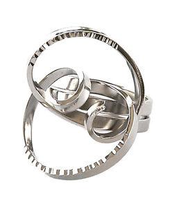【送料無料】ブレスレット ステンレススチールパターンリングanello da donna in acciaio inox modello spirale