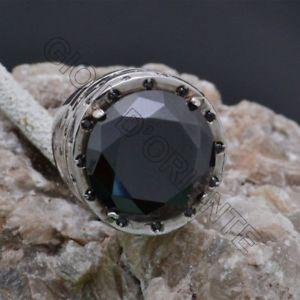 【送料無料】ブレスレット シルバーブラッククリスタルリングanello con cristallo nero in argento 925