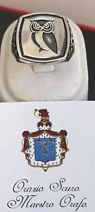 【送料無料】ブレスレット シルバーリングフクロウanello gufo in argento 925