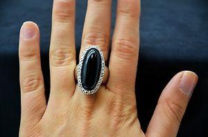 【送料無料】ブレスレット リングナイーブシルバーオニキスシルバーリングオニキスanello naif argento 925 onice e zirconi silver ring onyx and zircons sconto