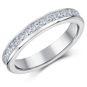 【送料無料】ブレスレット レディースチタンプリンセスカットladies titanio full eternity anello fidanzamento 4 mm taglio princess fede nuziale cz