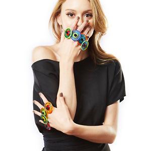 【送料無料】ブレスレット リングデザインムラノガラスanello artigianale design vetro murano onesize donna colorenergy lavorato mano