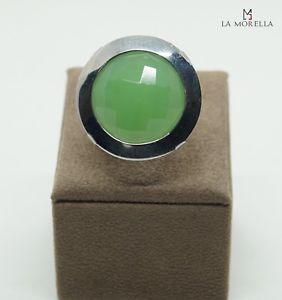 【送料無料】ブレスレット シルバーリンググリーンクオーツホワイトanello in argento bianco con quarzo verde