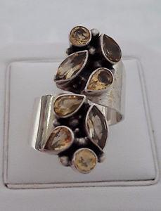 【送料無料】ブレスレット クリエイションアルジェントagnes creations sublime bague geante femme argent 925 ornee citrines taille 61