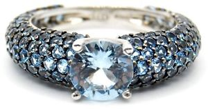 【送料無料】ブレスレット シルバーイタリアveretta argento 925 con zirconie azzurri con solitario artigianale italiana