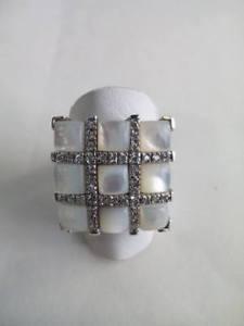 bianca 925 18 ring misura argento donna パールホワイトシルバーリングリングanello idea 【送料無料】ブレスレット madreperla regalo