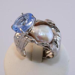 【送料無料】ブレスレット リングザックシルバーパールトパーズanello donna in argento 925‰ perla naturale e topazio di sintesi zak301