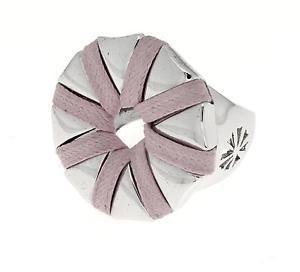 【送料無料】ブレスレット シルバーリングローズanello donna in argento 925 simoro ottagonale bianco,rosa  nuovo