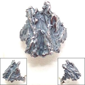 【送料無料】ブレスレット リングシルバーハンドメイドanello donna in argento brunito 925 fatto a mano ab16
