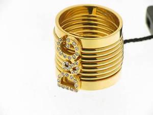 【送料無料】ブレスレット リングdamp;g anello diva acciaio dorato e swarovsky mis13 referenza dj0197