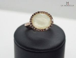 【送料無料】ブレスレット シルバーリングanello lucos in argento con zirconi e quarzo e madreperla