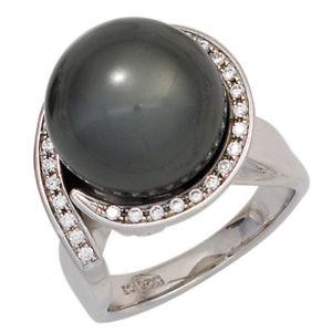 【送料無料】ブレスレット シルバーリングパールリングスターリングシルバーリングanello da donna 925 sterling argento kt con zirconi argento anello anello perle