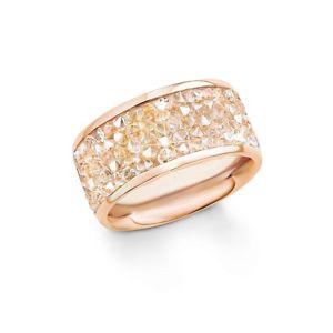 【送料無料】ブレスレット リングステンレススチールスワロフスキークリスタルピンクゴールドオリバージュエルs oliver jewel da donna anello in acciaio inox swarovski cristalli oro rosa so1358