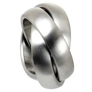 【送料無料】ブレスレット デザイナーロールリングステンレススチールdesigner 3er roll anello 6 mm in acciaio inoxkado