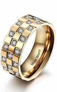 【送料無料】ブレスレット ステンレススチールマイアミリングmiami white anello in acciaio inox emanuelle 321xx3322