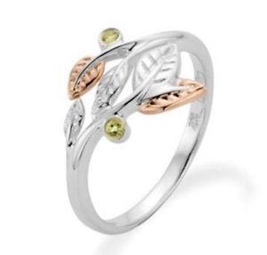 【送料無料】ブレスレット ゴールドシルバーペリドットリングサイズnuovo originale clogau 9ct oro e argento awelon peridot anello 3sar02 dimensione n 10900
