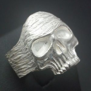 【送料無料】ブレスレット シルバーリングanello da uomo teschio in argento 925 fatto a mano a139