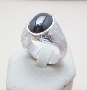 【送料無料】ブレスレット シルバーリングヘマタイトanello uomo argento 925 con ematite fatto a mano a111