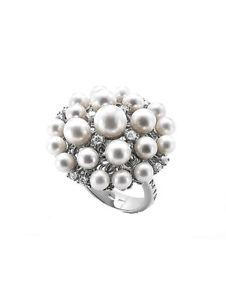 【送料無料】ブレスレット シルバータラリングanello nihama in argento 925 con perle e zirconi codma7140a4fabi999