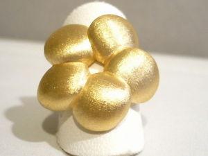【送料無料】ブレスレット シルバーリングサテンanello argento 925  placcato oro con fiore satinato