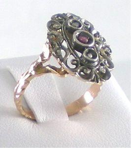 【送料無料】ブレスレット リングkricercato anello 9k rubino rosette nuovo