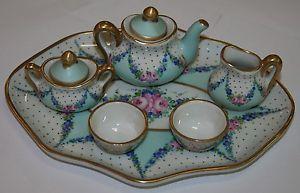 【送料無料】ブレスレット リモージュミニチュアコーヒーservizietto da caffe in miniatura in porcellana di limoges