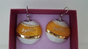 【送料無料】ブレスレット イヤリングビブロスラウンドイエローゴールドイヤリングゴールデンイエローorecchini byblos temptation tondo gialli dorati earrings golden yellow