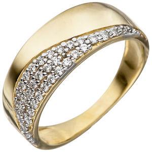 【送料無料】ブレスレット イエローゴールドリングanello da donna 333 oro giallo bicolore con zirconi goldring