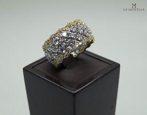 ブレスレット リングanello in argento dorato con zirconi bianchi