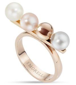 【送料無料】ブレスレット リングパールビーズピンクmorellato lunae anello donna sadx05 perla perle pvd rosa mis 14 o 16