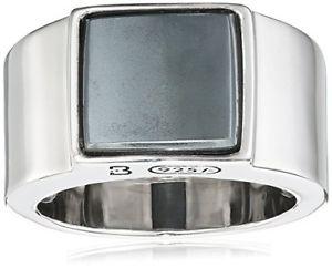 【送料無料】ブレスレット リングヘマタイトシルバーメジャーnuova inserzionebaldessarini finering anello, con ematite, argento, misura 58 185