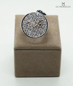 【送料無料】ブレスレット リングanello in argento bianco con pav di zirconi bianchi