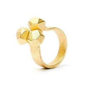 【送料無料】ブレスレット リングステンレススチールcalyx anello, stampa 3d in acciaio inox placcato
