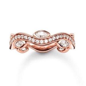 【送料無料】ブレスレット トーマスローズリングnuovo thomas sabo glam amp; soul silver rose cz eternity ring tr2011 misura 54 169