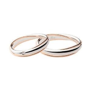 【送料無料】ブレスレット リングホワイトゴールドピンクドレスanello fede nunziale fedi polello convivenza i2692 oro bianco rosa sposi sposa
